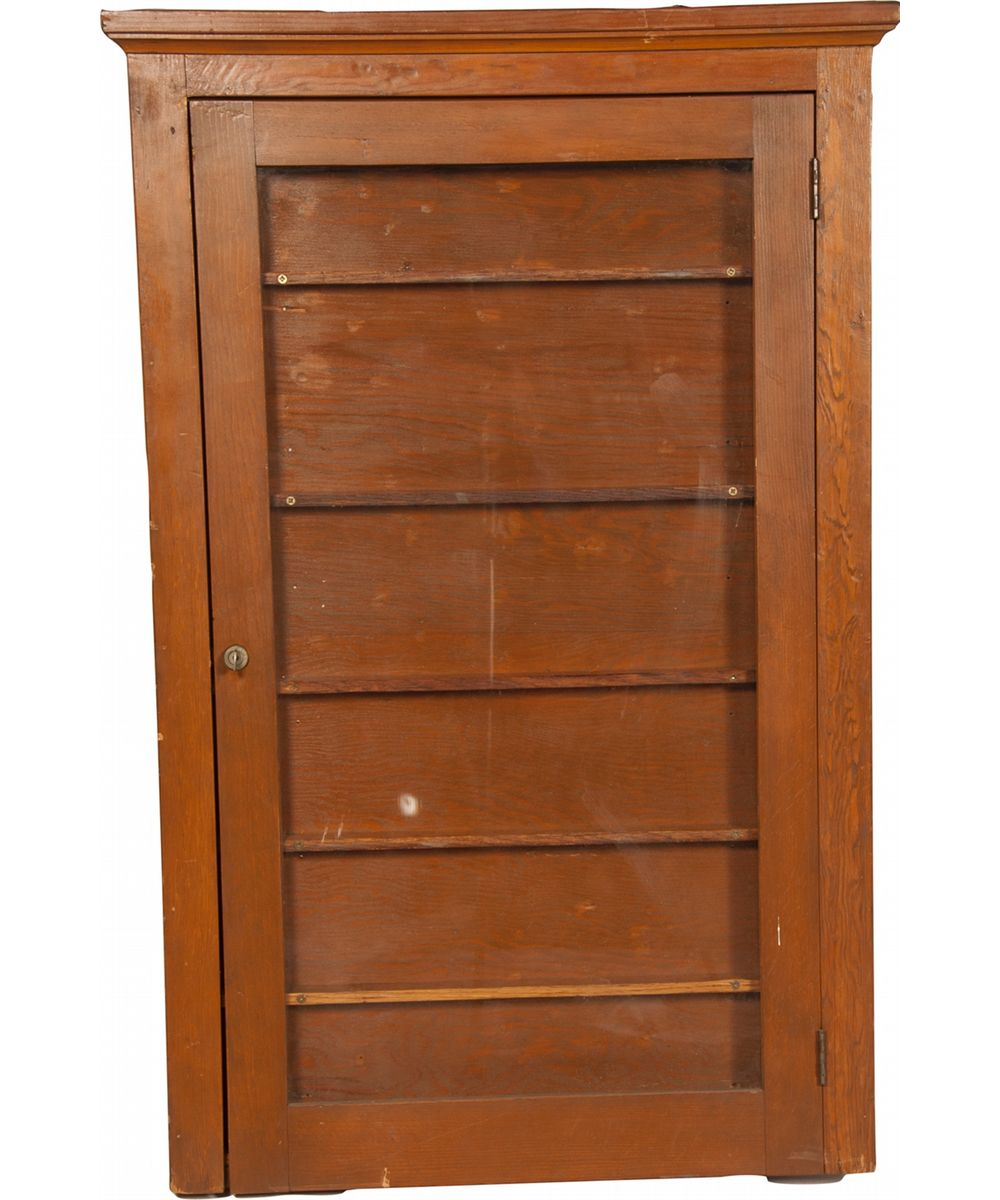 Image 1 Vintage Wall Mount Wood Display Cabinet