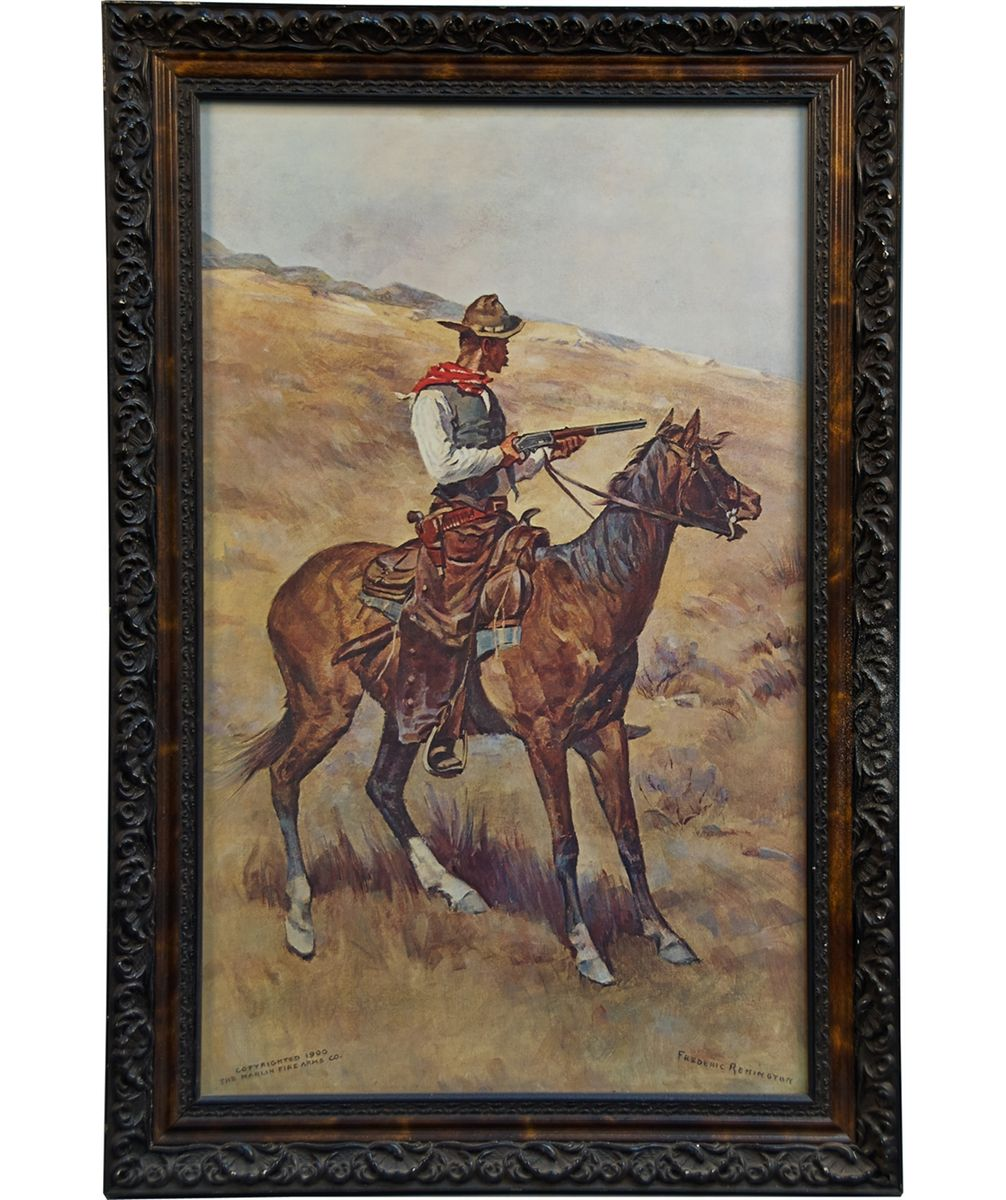 Danger Ahead Frederic Remington Old West Print In Orn. Loading Zoom