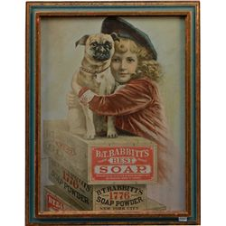 B.T. Babbitt's Best Soap Advertisement In Frame