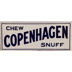 Chew Copenhagen Snuff Double-Sided Porcelain Flange