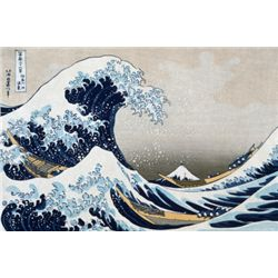 The Great Wave at Kanagawa by Katsushika Hokusai Art print