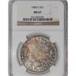 1880-S Morgan $ MS67 NGC