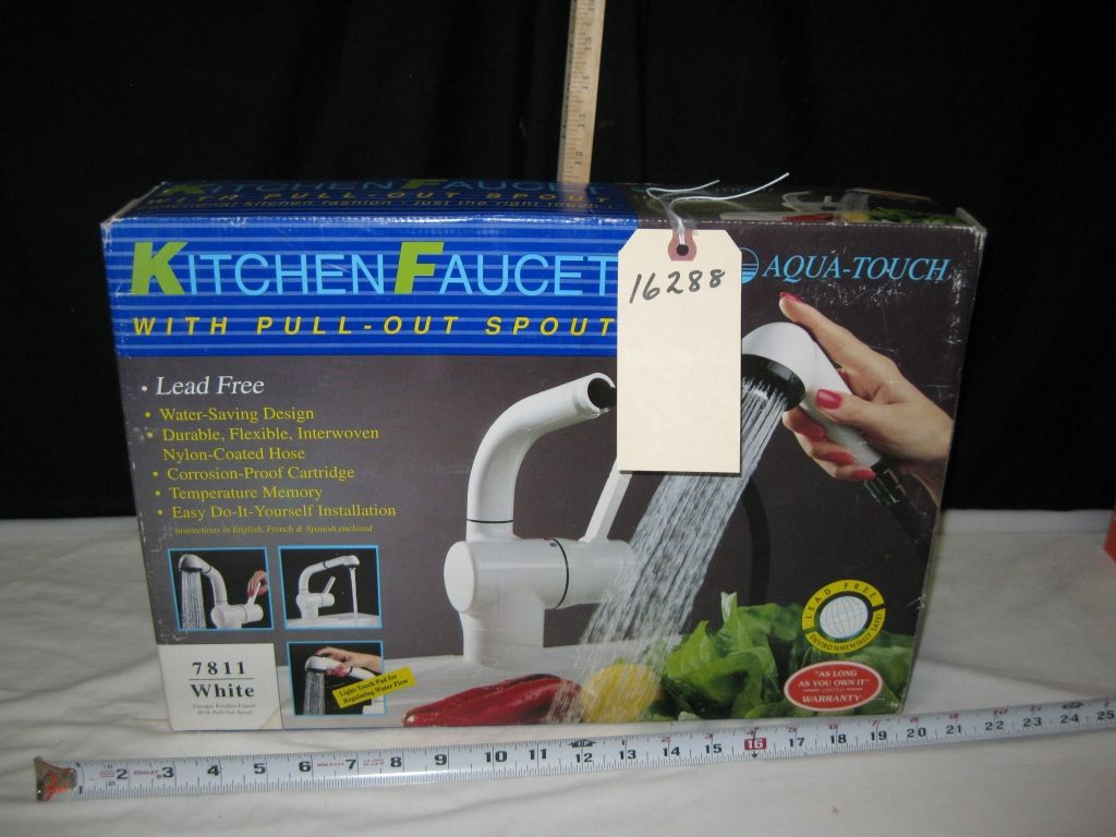 touch kitchen faucets touchless kitchen faucet image 1 aqua touch kitchen faucet new in the box