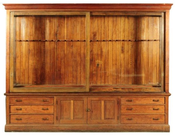 Country Store Gun Display Cabinet Wall Unit