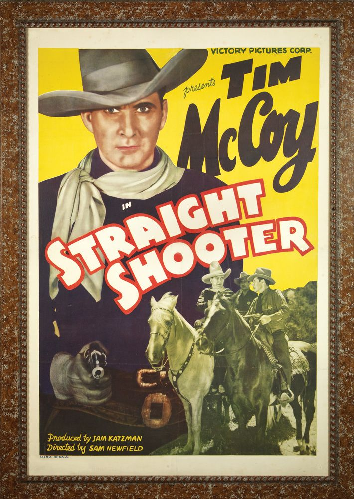 pair of vintage western movie posters