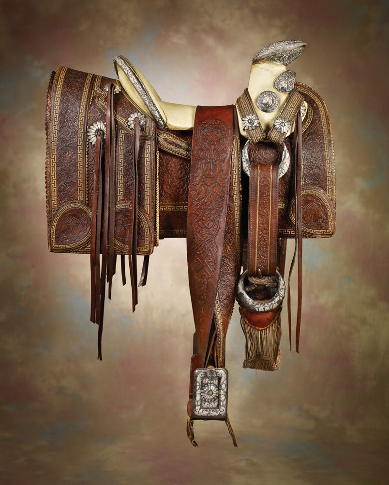 Ornate Silver Mounted Mexican Saddle