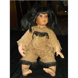 Native American Doll 25 - 18tc - 20 Inch 2002 Kelly RuBert limited edition Native American doll  Exc