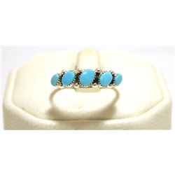 Navajo Turquoise Sterling Silver Women's Ring - Johnny Wallace