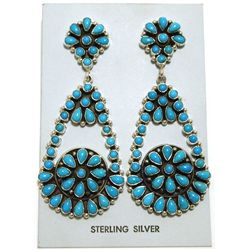 Navajo Turquoise Sterling Silver Post Earrings - Emma Lincoln