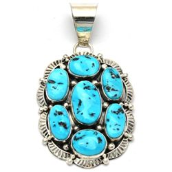 Navajo Turquoise Cluster Pendant - Mary Ann Spencer