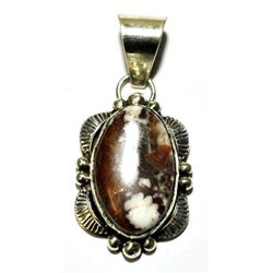 Navajo Wild Horse Small Sterling Silver Pendant - Mary Ann Spencer