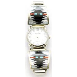 Zuni Multi-Stone Men's Watch - Charlotte Dishta
