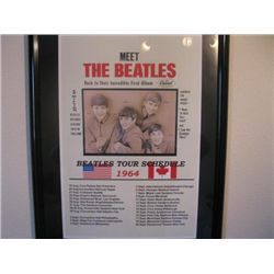 Meet The Beatles USA/Canada 1964 Tour Schedule