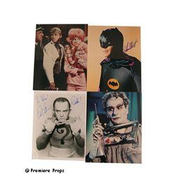 Batman TV Photo Signed Adam West/Diane McBain/Frank Gorshin/Eli Wallach