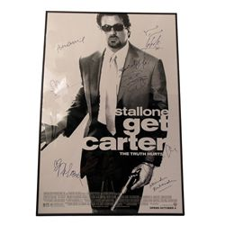 Get Carter Cast Signed Poster