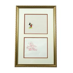 Disney Original Animation Cell & Drawing Mickey Mouse