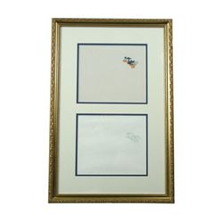 Disney Original Hand Painted Cell & Drawing Donald Duck