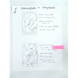 Harry Potter Production/Storyboard Drawings