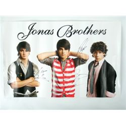 Jonas Brothers Signed Poster
