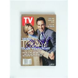 Katie Courie & Matt Lauer Signed TV Guide