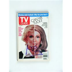 Joan Rivers Signed TV Guide