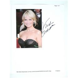 Kristin Chenowith Signed Photo