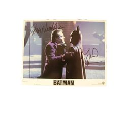 Batman (1989) Lobby Card Signed Deaton & Nicholson