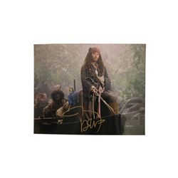 Pirates of the Caribbean Johnny Depp Signed Photo