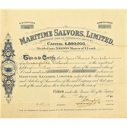 Maritime Salvors, Limited, Stock