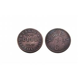 EAGLE CLUB-Brothel Token-LEADVILLE COLO. / You May Call Again  and C me / A real beauty-Only 1 known