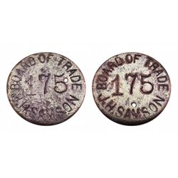 BOARD OF TRADE (175) J.H. SAMSON-identicle words on reverse-yet another rare token from the Leadvill