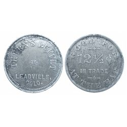 THURN'S BUFFET* LEADVILLE COLO. - rare large saloon token / GOOD FOR 12 1/2 cents IN TRADE AT THE BA