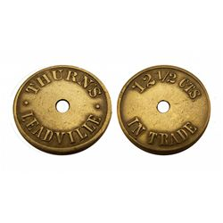THURN'S LEADVILLE-Saloon Token / 12 1/2 CTS IN TRADE- 10 known