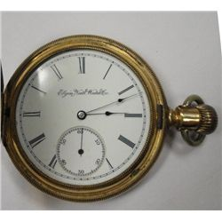 Circa 1888 Elgin Hunting Case Pocketwatch Not Running Missing Crystal Lever Set