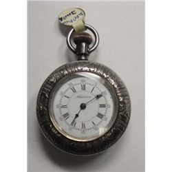 Circa 1883 Ladies Addison Open Face Pocket watch, Coin Silver Runs