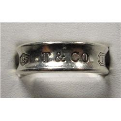 1997 Tiffany & Co. Sterling .925 Ring, Size  8 1/2