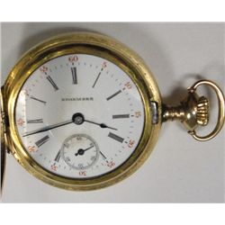 Edgemere Ladies Hunting Case Pocket Watch, O size 15 jewel, No crystal,