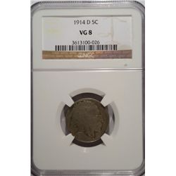 1914-D BUFFALO NICKEL NGC VG8
