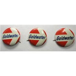 1963 Barry Goldwater Right Wing Campaign Button - 3 pcs.