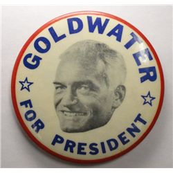"1964 Goldwater For President Campaign Button 3 1/2"" diameter"