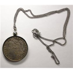 1897-S Morgan Silver Dollar Mounted as Necklace