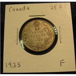 1056. 1935 Canada 25-Cents. F.