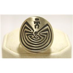 Navajo Sterling Silver Man on Maze Women's Ring - Stanley Gene