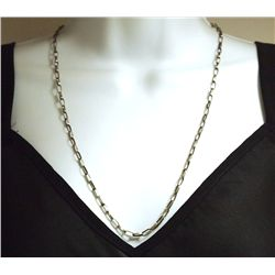 "Navajo 24"" Sterling Silver Handmade Link Necklace Chain - Sally Shirley"