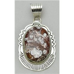 Navajo Wild Horse Large Sterling Silver Pendant - Mary Ann Spencer
