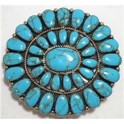 Navajo Turquoise Sterling Silver Buckle - Juliana Williams