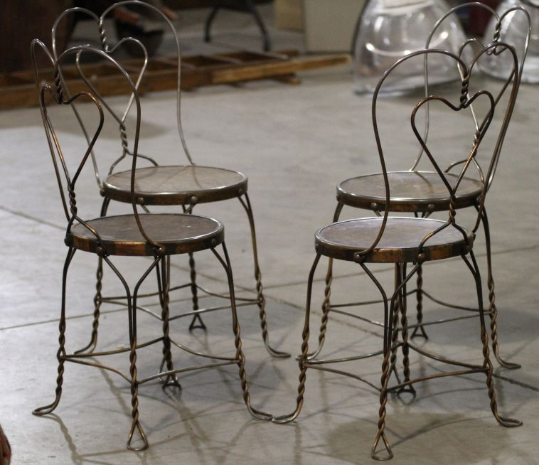 Charmant ... Image 4 : Wrought Iron Ice Cream Parlor Chairs ...