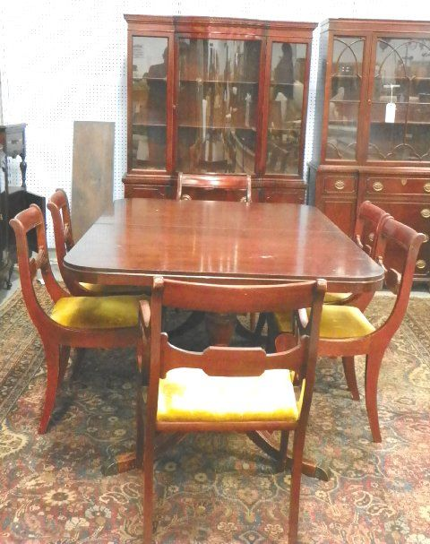 Vintage Drexel Heritage Dining Chairs Parsons
