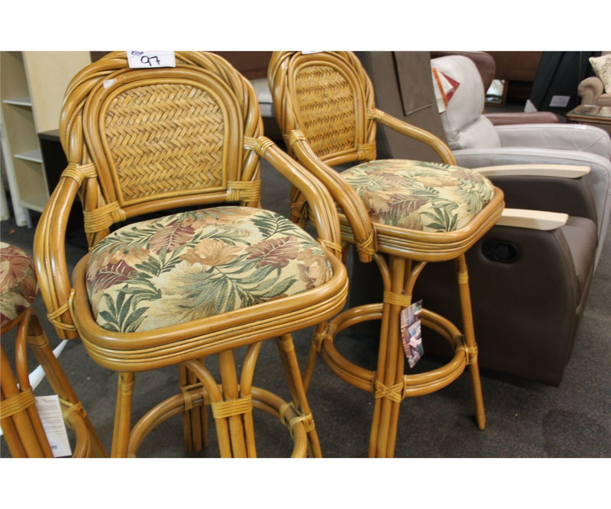 Light Rattan Monte Carlo 27 Quot High Bar Stool Able Auctions