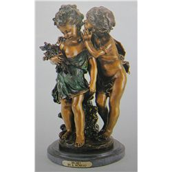 SECRET  BRONZE SCULPTURE - A. MOREAU
